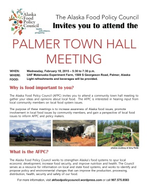 AFPC Hosting Town Hall in Palmer – February 18th